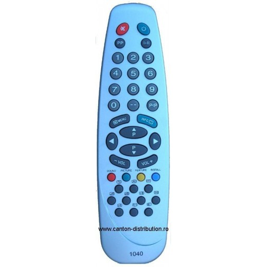 Nr.141/ 1040 Telecomandă pentru TV TELETECH, VESTEL (P2500, IR43M, COM3404)