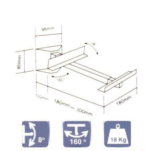 2130/ SUPORTI METALICI BOXE(SET)