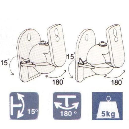 2133/ SUPORTI BOXE DIN PLASTIC(SET)