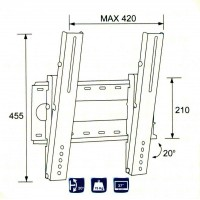 2502-32/ SUPORT LCD-LED-PLASMA