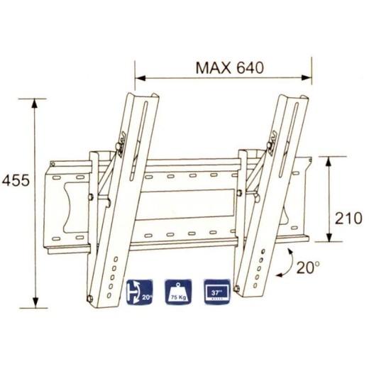 2502-48/ SUPORT LCD-LED-PLASMA