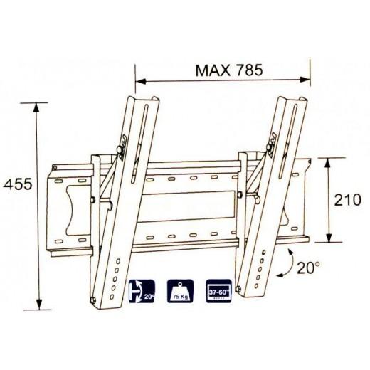 2502-64/ SUPORT LCD-LED-PLASMA