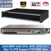 A9224HE/24 Canale Tribrid DVR/HVR/ NVR Compatibil cu camerele AHD 960P 1.3 MP,720P 1 MP si Analogice full D1