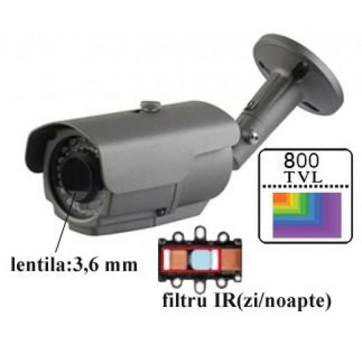 AVB20P80/ Cameră de supraveghere 800 TVL cu IR de exterior/interior