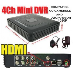 DVR 1080P SI 1080N COMPATIBIL CU CAMERELE ANALOG HD  DE 1, 1.3 SI 2 Mpixeli