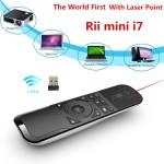RII  I7 /2.4G Mini Wireless Tastatura, Air Mouse, Telecomanda Combo cu efect giroscop pe 6 Axe pentru TV BOX Mini/Laptop PC