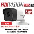 DS-2CE16H0T-IT3F 5MP/ Cameră de supraveghere 4 în 1 HIKVISION, 2.8mm, IR EXIR 2.0 40 m, IP67