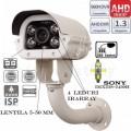 EAHD130-T054ER4 Cameră de supraveghere HD(960P) cu noua generație de leduri IR Array (vedere foarte bună pe timp de noapte) și lentilă varifocală între 5-50 mm