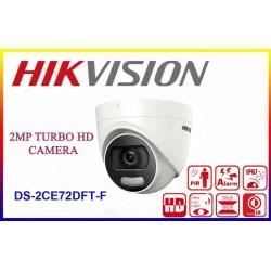 DS-2CE72DFT-F/ Cameră de supraveghere HIKVISION TurboHD 2 MP, lentilă de 3,6 mm, ColorVU vizualizare color la 20 m pe timp de noapte