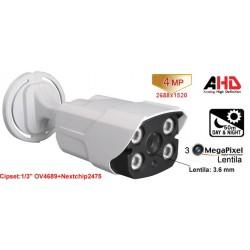 UV-AHDBU909/ Camera supraveghere Analog-HD(4 Mpixeli)de exterior/interior pentru 50 metri pe timp de noapte si lentila fixa de 3.6 mm