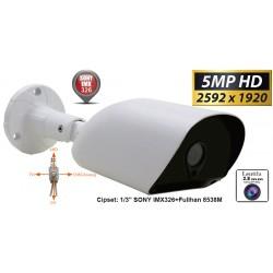 UV-HDBG515/ Cameră de supraveghere AHD 5 Mpixeli/TVI/CVI(1080P)/CVBS  de exterior/interior pentru 25 metri pe timp de noapte și lentilă de 2,8 mm