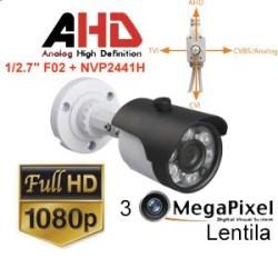 UV-HDBP517/ Camera supraveghereAHD / TVI / CVI / CVBS 4-in 1 (2 Mpixeli) de exterior/interior pentru 30 metri pe timp de noapte