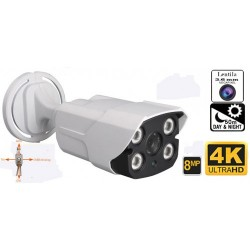 UV-HDBK909/ Cameră de supraveghere de exterior  4 în 1 AHD/TVI/CVI/CVBS  (8 Mpixel/4K) de exterior pentru 50-60 metri pe timp de noapte