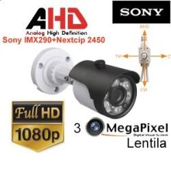 UV-HDBW517/ Camera supraveghereAHD / TVI / CVI / CVBS 4-in 1 (2,1 Mpixeli) de exterior/interior pentru 30 metri pe timp de noapte pentru peco si parcari( super wide dynamic range)