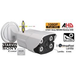 UV-HDBW909_6mm/ Camera supraveghere AHD 4-in 1 (2,1 Mpixeli) de exterior/interior pentru 50 metri pe timp de noapte pentru peco si parcari( super wide dynamic range