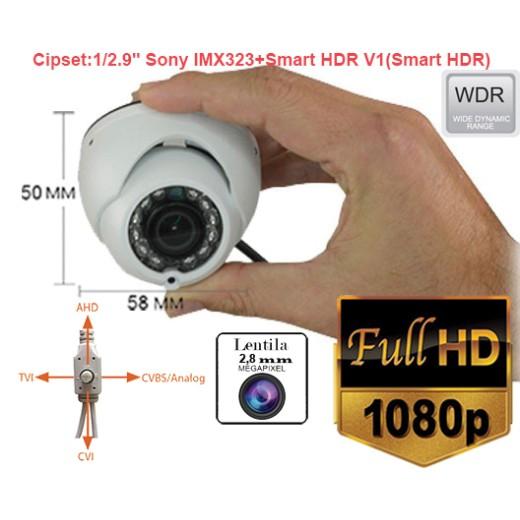 UV-HDDHDR430 Minicamera supraveghere 4 in 1:AHD 2MP / TVI / CVI (1080P) / CVBS (960P) de exterior/interior tip Wide dinamic range