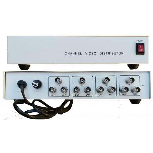 VD-408 Distribuitor video pentru camere analogice de la 4 la 8 canale