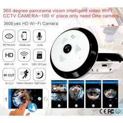 WFEC10/ Camera de supraveghere(cu functie inregistrare pe card SD WIFI(wireless)  cu functie de internet la 1,3 MP si vizualizare panoramica la 360 grade