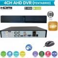 XVRZ401/ Pentabrid DVR cu 4 canale 5MP  compatibil cu camerele Analog/AHD/HD‐CVI/HD‐TVI/IP