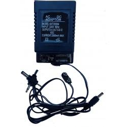 KXT-2000A/ Alimentator tensiune clasic(cu transformator) universal cu tensiunile:3,4.5,6,7.5,9,12 VDC max 2000 mA