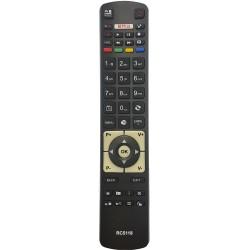 Nr.628/ RC5118 Telecomandă pentru LCD NEI,AKAI, DIGIHOME, FINLUX, HITACHI, TELEFUNKEN cu NETFLIX