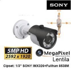 UV-HDBG517/ Cameră de supraveghere 4 în 1 AHD/TVI/CVI/CVBS (5 Mpixeli) de interior/exterior pentru 20 metri pe timp de noapte cu cipset SONY