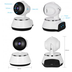 WFQ11/ Mini PTZ IP Wireless Camera H.264 cu inregistrare pe card microSD pana la 128G de interior