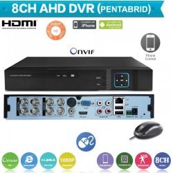 XVR1008/ Pentabrid DVR 8 canale 1080N(960*1080)  compatibil cu camerele AHD de 1,1.3 si 2 Mp, CVI la 2 MP,camere analogice(960H) si camere IP 1080P