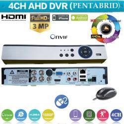 XVR4004L/ PENTABRID DVR: 4CH*4MP AHD(2688*1520),4CH 3 MP AHD ( 2048*1536 )/ IP: 4*5MP/ ANALOG: 4*960H/ 4*TVI 1080P( acest DVR lucreaza foarte bine cu camerele AHD-2/3/4 MP)
