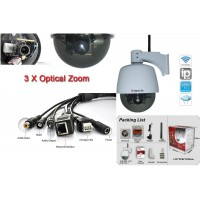 APM-J901-Z-WS/(wireless/fara fir)  Camere supraveghere cu functie internet,  de exterior cu zoom optic controlabil direct prin internet sau telefon mobil Suporta vizualizarea directa pe telefoane mobile cu 3G