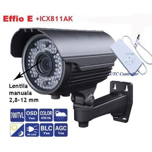 AVA40S70/ Cameră de supraveghere de exterior cu lentilă reglabilă între 2,8-12 mm