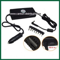 DC1260/Alimentator universal de masina(12V) pentru LCD si Laptop/ max: 100W
