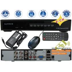 DVR-9304/ DVR cu 4 canale video și 4 canale audio compatibil cu camerele analogice