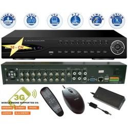 DVR-9306/ DVR cu 16 canale video și 4 canale audio pentru camere analogice