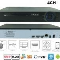 NVR-7004QT/ NVR 4 canale H.265 pentru camere cu IP până la 5 Mpixeli