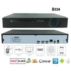 NVR-7008QT NVR 8 canale H.265 pentru camere cu IP pana la 5Mpixeli