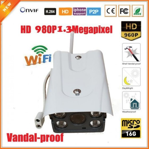 WFQU03/ Camera supraveghere cu IP wireless la 1.3Mp cu card de memorie de 16G incorporat