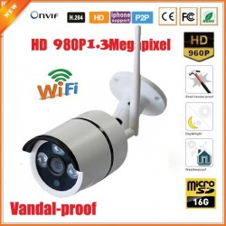 WFQW03/ Cameră de supraveghere cu IP wireless la 1,4 Mpixeli cu card de memorie de 16G încorporat