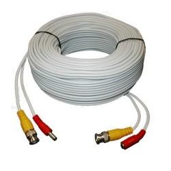 Cabluri de conexiune direct sertizate, 30 m, video+alimentare